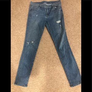Ann Taylor Loft distressed jeans